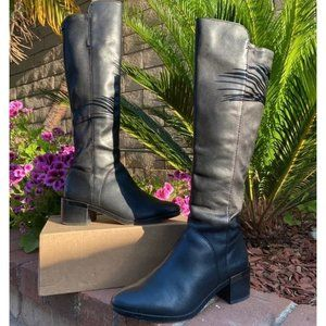 Coach Black Leather Riding Boots Size 6